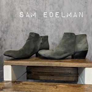 "Sam Edelman ""Petty"" Chelsea booties in Slate Gray"